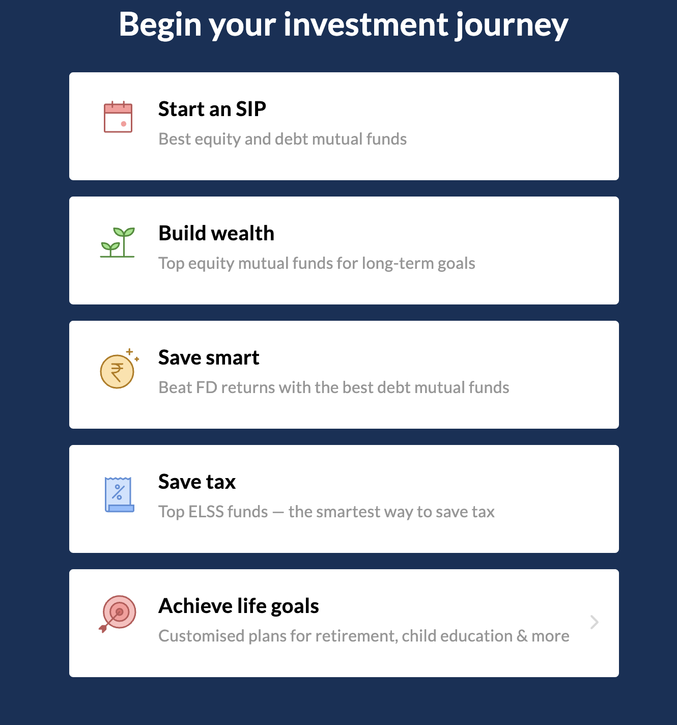Begin your investment journey