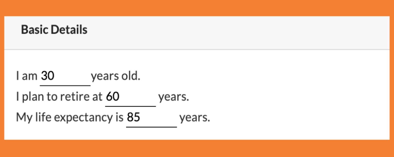 retirement calculation